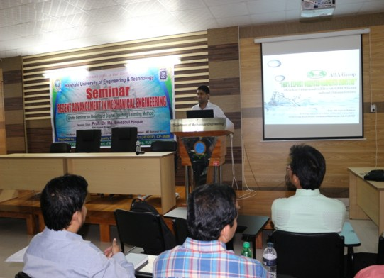 Seminar on Recent Advancement In Mechanical Engineering